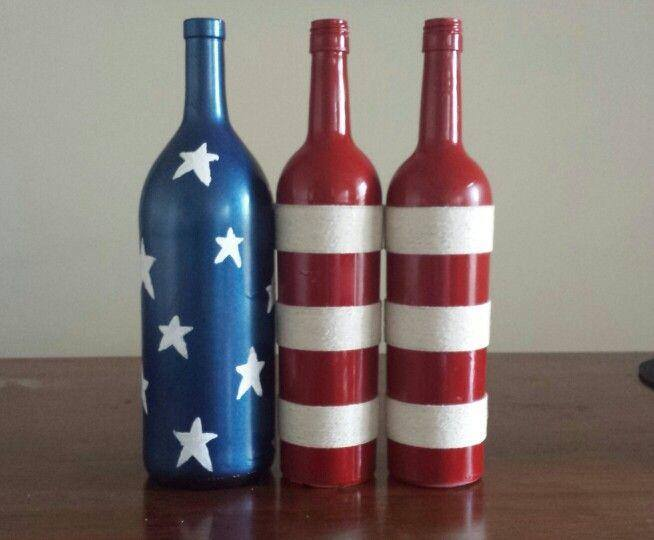 Happy fourth of july colorado wine colorado winery for How to make glasses made from wine bottles